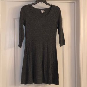 H&M basic dark gray skater dress. Size S.